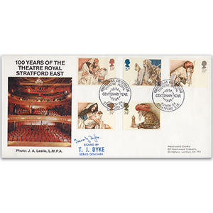 1984 Christmas - Theatre Royal Stratford East Official - Signed by T. J. Dyke