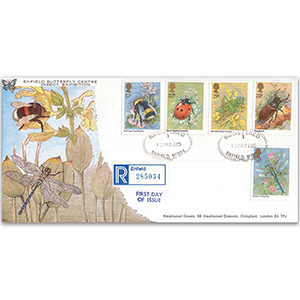 1985 Insects - Enfield CDS, Butterfly Centre cover