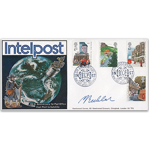 1985 350 Years of Royal Mail - Intelpost Official - Signed by Dr. John Becklake