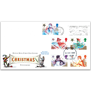1985 Christmas - Royal Mail FDC - Exeter Shopping Slogan