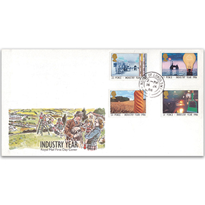 1986 Industry Year - Royal Mail FDC - House of Lords Double-Ring CDS