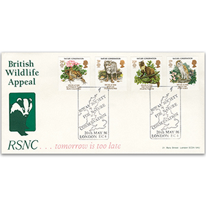 1986 Conservation: RSNC Official - London EC4 handstamp