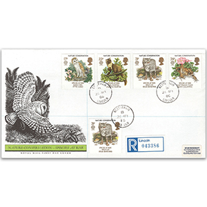 1986 Nature Conservation - Royal Mail FDC - Nettleham CDS