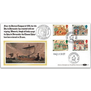 1986 Medieval Life - Stamplink 1986 - Cherbourg Paquebot