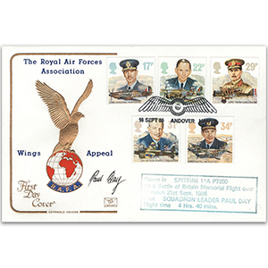 1986 RAF Cotswold Official - Flown - Signed by Sqn. Ldr. P. Day
