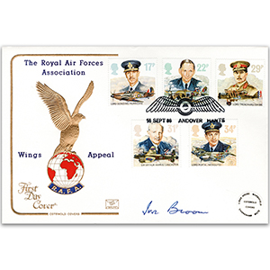 1986 RAF Cotswold Cover - Wings Appeal Official - Signed by Ivor Broom