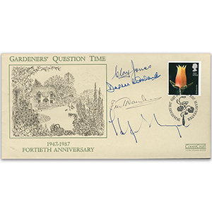 1987 'Gardeners Question Time' 40th - Signatures include Clay Jones and Daphne Ledward