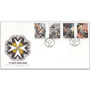 1987 St John's Ambulance - Royal Mail FDC - Southminster, Essex