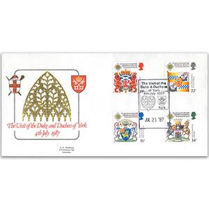 1987 Scottish Heraldry - Duke and Duchess of York Visit Minster Official