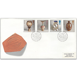 1987 Studio Pottery Royal Mail Cover - Edinburgh FDI