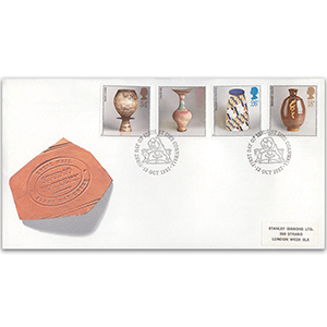 1987 Studio Pottery - Royal Mail FDC - St. Ives, Cornwall handstamp