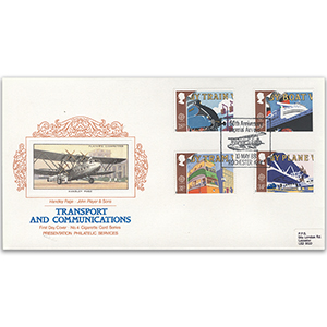 1988 Transport - PPS Cigarette Card, Rochester Airways handstamp