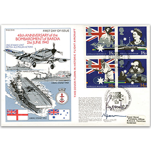 1988 Australian Settlement Bicentenary - Bombardment of Bardia official