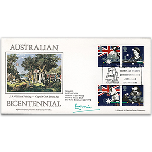 1988 Australian Settlement Bicentenary - Cook Museum Official - Signed by Lord Lewin