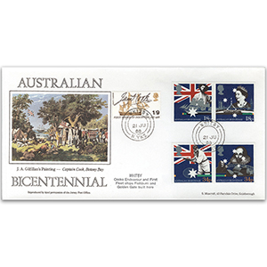 1988 Australia Settlement Bicentenary - Whitby, North Yorkshire CDS