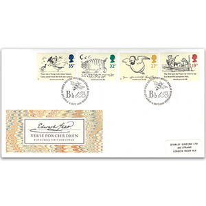 1988 Centenary of Edward Lear Stamps - Royal Mail FDC - Philatelic Bureau, Edinburgh