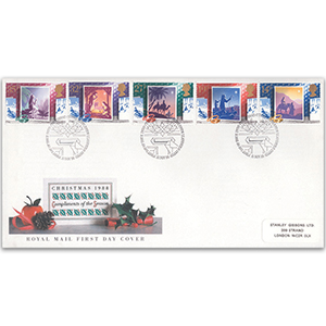 1988 Christmas Royal Mail FDC - Bethlehem, Llandeilo