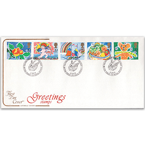 1989 Greetings Cotswold Cover - BFPS 2192 Cancellation