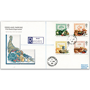 1989 Food & Farming Year: Cheddar CDS - Royal Mail FDC