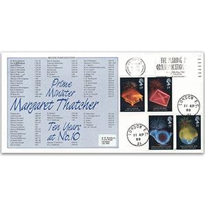 1989 Anniversaries - Bradbury Official - 'Thatcher - Ten Years at No. 10'