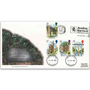 1989 Industrial Archaeology: Aveling Barford slogan - Royal Mail FDC