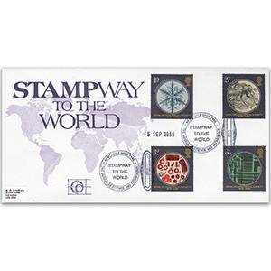 1989 Microscopes Stampway to the World official