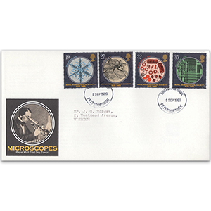 1989 Microscopes Royal Mail FDC - Peterborough FDI