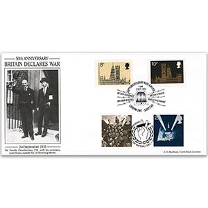 1989 50th Anniversary of World War 2 - Bradbury Cover - Doubled 1995