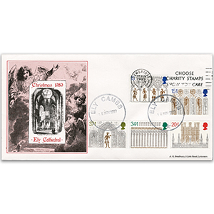 1989 Christmas - Ely Cathedral - 'Choose Charity Stamps' Slogan Cancellation