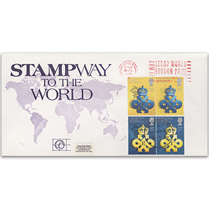 1990 Queens Award - Stamp World London Slog Stampway Cover