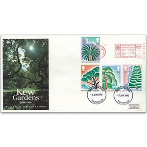 1990 Kew Gardens 150th - Twickenham Slogan, Royal Mail FDC