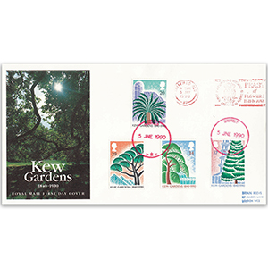 1990 Kew Gardens 150th - Royal Mail Cover - Feast Of Flowers Slogan