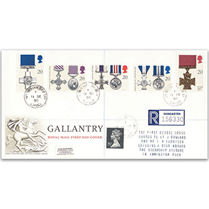 1990 Gallantry - Royal Mail Cover - Immingham CDS