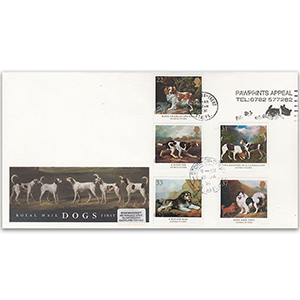 1991 Dogs - Royal Mail FDC - Stoke on Trent Pawprints Slogan