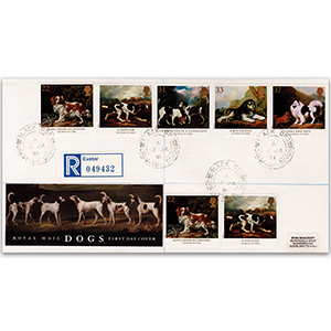 1991 Dogs - Royal Mail Cover - Black Dog CDS