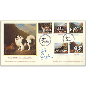 1991 Dog Paintings. George Stubbs Cover - Signed Katie Boyle
