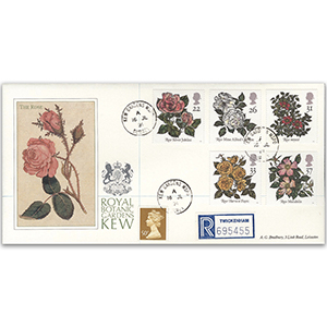 1991 Roses Kew Gardens CDS on Special Cover