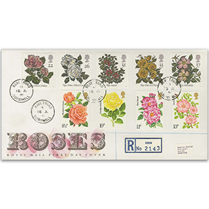 1991 Roses - Royal Mail FDC - Rose, Truoro CDS