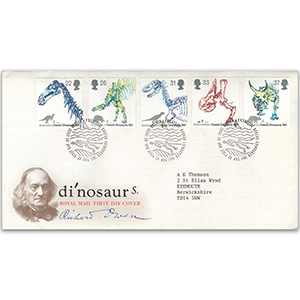 1991 Dinosaurs - Royal Mail Cover - Bureau, Edinburgh