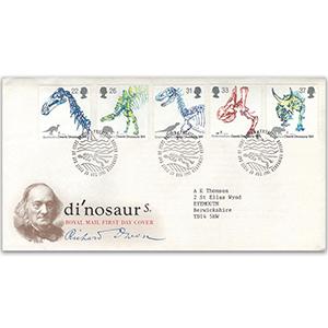 1991 Dinosaurs - Royal Mail Cover - Bureau, Edinburgh