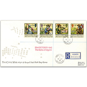 1992 Civil War 350th Royal Mail Cover - Kineton, Warwick CDS