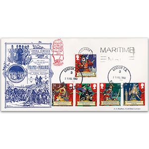 1992 Gilbert & Sullivan - London Maritime Mail slogan and CDS