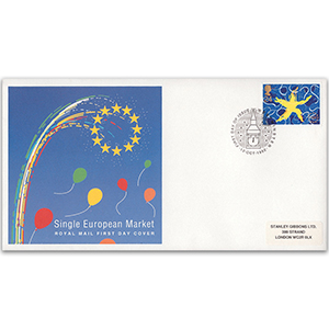 1992 Single European Market - Royal Mail FDC - Westminster FDI