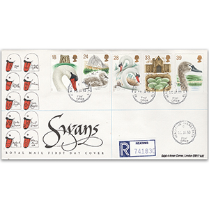 1993 Swans - Royal Mail FDC - Henley-on-Thames CDS