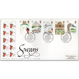 1993 Swans Royal Mail FDC - Abbotsbury, Dorset