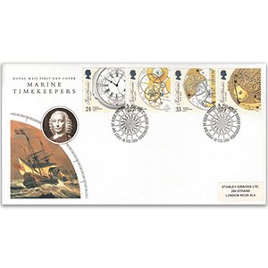 1993 Marine Timekeepers - Royal Mail FDC - Philatelic Bureau, Edinburgh