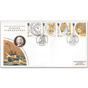 1993 Marine Timekeepers - Royal Mail FDC - Greenwich