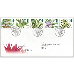 1993 Orchids Royal Mail Cover - Bureau, Edinburgh