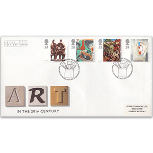 1993 Europa: Art in the 20th Century Royal Mail FDC - BPB Edinburgh