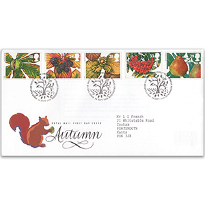 1993 Four Seasons: Autumn - Royal Mail Cover - Bureau, Edinburgh